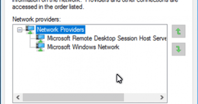 Windows 10 Network Binding